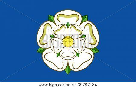 Officiella flagga Yorkshire land i England.
