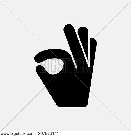 Emoji Hand Ok Emoticon Like. Finger Okay Hand Up Perfect Thumb Symbol