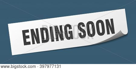 Ending Soon Sticker. Ending Soon Square Isolated Sign. Ending Soon