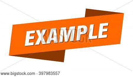 Example Banner Template. Example Ribbon Label Sign