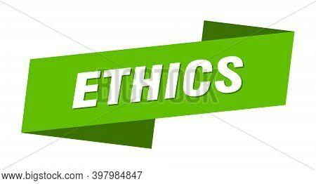 Ethics Banner Template. Ethics Ribbon Label Sign