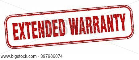 Extended Warranty Stamp. Extended Warranty Square Grunge Sign. Label