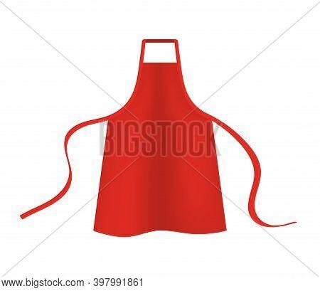 Apron Mockup Vector Chef Bbq Template Cooking Barbecue Pocket. Kitchen Apron Uniform