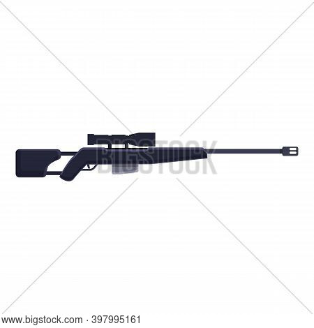 Assault Sniper Weapon Icon. Cartoon Of Assault Sniper Weapon Vector Icon For Web Design Isolated On