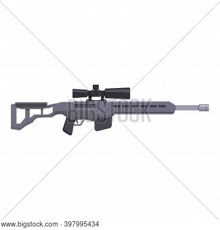 Swat Sniper Weapon Icon. Cartoon Of Swat Sniper Weapon Vector Icon For Web Design Isolated On White
