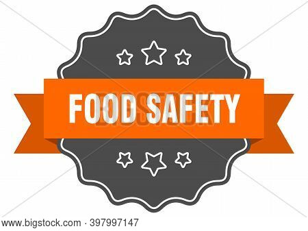 Food Safety Isolated Seal. Food Safety Orange Label. Food Safety