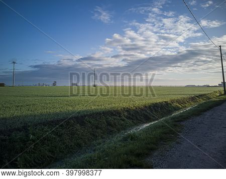 Countryside Landscape With Field