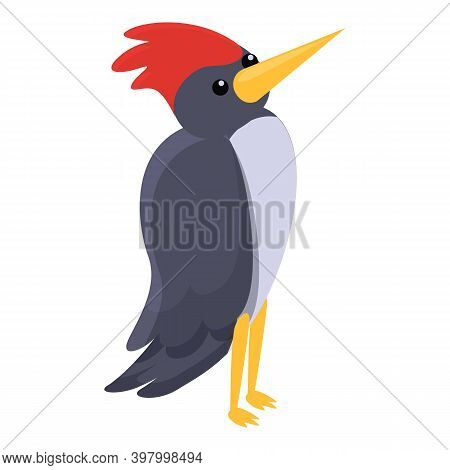 Nest Woodpecker Icon. Cartoon Of Nest Woodpecker Vector Icon For Web Design Isolated On White Backgr