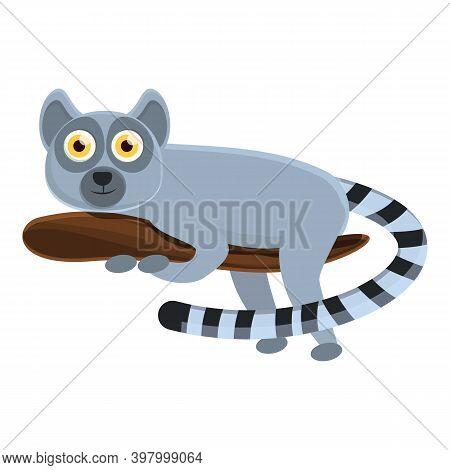Lemur Jungle Icon. Cartoon Of Lemur Jungle Vector Icon For Web Design Isolated On White Background