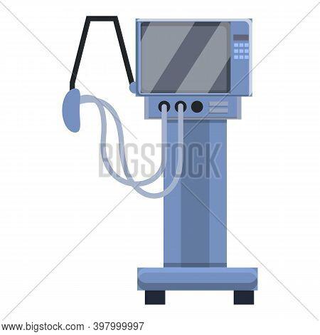 Computer Ventilator Medical Machine Icon. Cartoon Of Computer Ventilator Medical Machine Vector Icon