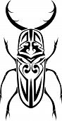 Black stag beetle on white background.Tribal tatoo.Vector format eps ia also available poster
