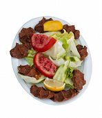 Traditional Turkish Raw Meat Patty (Cig Kofte - Chee Kufta) poster