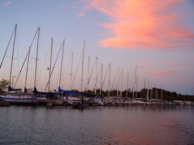 Sailboats Docked