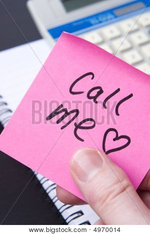 Love Note In Office Says Call Me