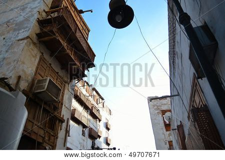 Historical houses from beneath of Jeddah