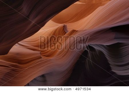 In Lower Antelope Canyon