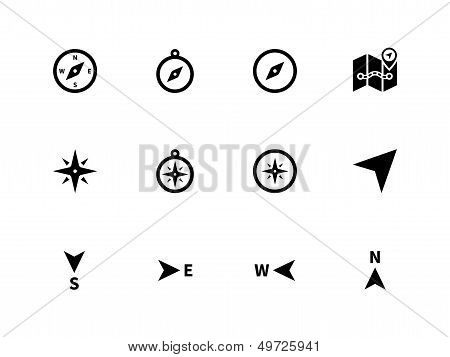Compass icons on white background.
