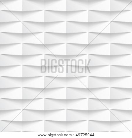 Abstract 3d geometric background. vector illustration. White seamless geometric texture with shadow. Simple clean background texture.
