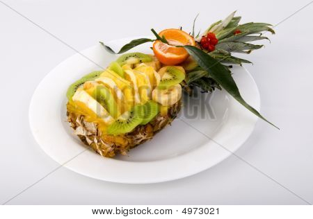 Fruit Salad On White Table