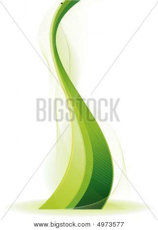 Green Vector Fantasy Wave
