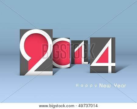 Creative Happy New Year 2014 celebration background.