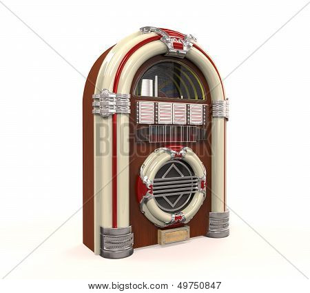 Juke Box Radio Isolated