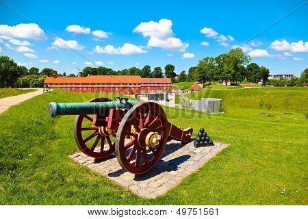Old cannon in Copenhagen, Denmark
