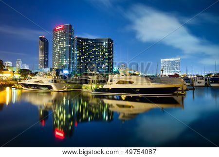 San Diego California at night