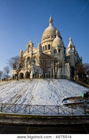 Snow At Sacre Couer
