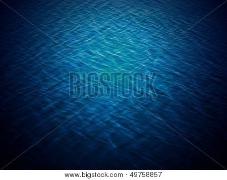 Sea water - texture, blue aqua poster