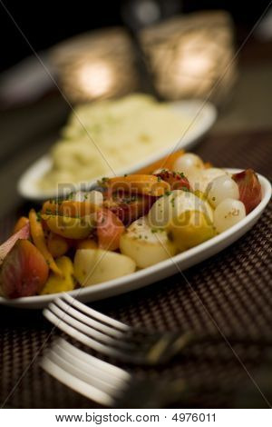 Mashed Potatoes & Mixed Vegetables