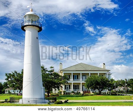 Historic lighthouse landmark and welcome center in Biloxi, Mississippi