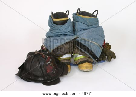 Fire Boots And Helmet