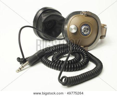 vintage retro headphones