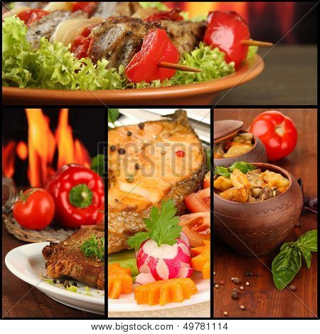 Collage of tantalizing culinary dishes