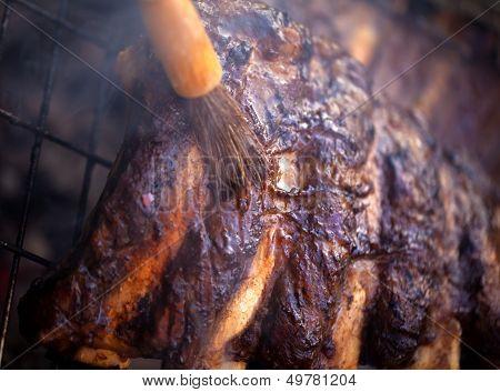 BBQ ribs.