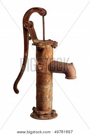 Rusty water pump.