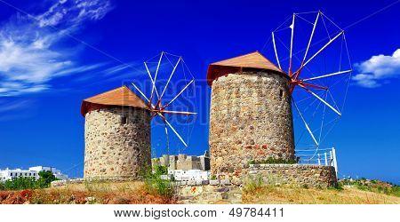 Greek windmills - Patmos island