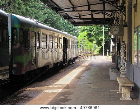 Elegant Railway Station in Tuscany