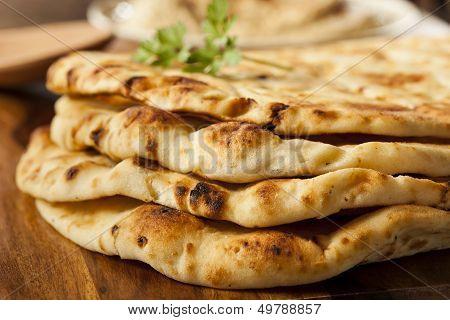 Homemade Indian Naan Flatbread