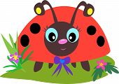This cute Ladybug has huge eyes and little dots. poster