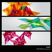 Modern colorful transparent triangles abstract background illustration. EPS10 vector with transparency organized in layers for easy editing. poster
