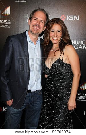 LOS ANGELES - FEB 11:  Josh Stolberg, Leila Charles Leigh at the