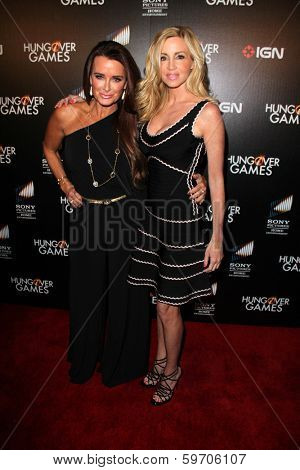 LOS ANGELES - FEB 11:  Kyle Richards, Camille Grammer at the