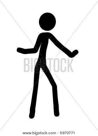 Stickman Illustration Silhouette