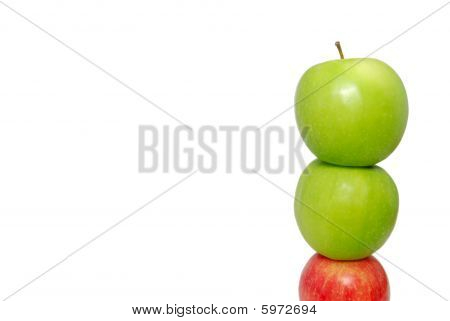 Red Apple At The Bottom Of A Pile Of Apples
