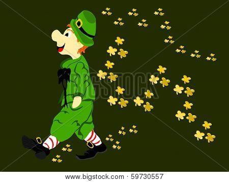 Leprechaun Walk Gold Clover