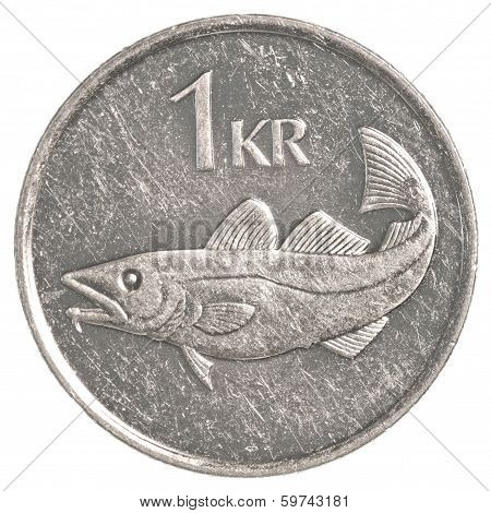 One Icelandic Krona Coin