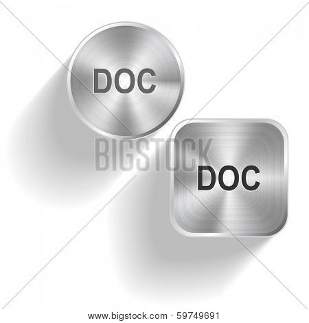 Doc. Raster set steel buttons