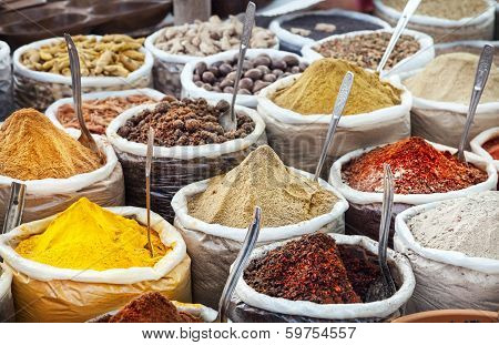 Indian Colorful Spices